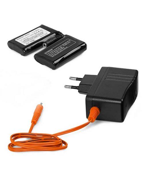 2i1-halsedisse: Batteri og lader