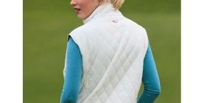 Dame vest quiltet golf